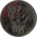American Games Caps > Slammers Skull-with-daggers-through-eyes.