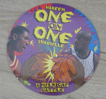 Classic pog play mat - Hakeem one on one Shaquille a milkcap battle