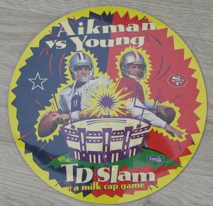 NFL Aikman vs Young TD Slam Classic pog play mat