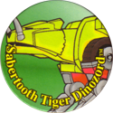 Collect-A-Card > Power Caps > Power Rangers Series 1 44-Sabertooth-Tiger-Dinozord.