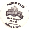Collect-A-Card > Power Caps > Power Rangers Series 2 Back.