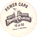 Collect-A-Card > Power Caps > Power Rangers Series Unknown Back.