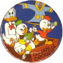 Disney > Blank back Donald-Duck-with-Huey,-Dewey-and-Louie-in-small-boat.