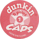 Dunkin Caps > (Red back) Back-(red)-5-point.