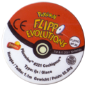 Flippos > Pokemon > 26-45 Evolution 35-Piloswine-#221-Cochignon-(back).