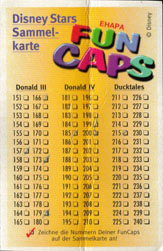 Fun Caps > Checklists & packets Disney-Stars-Sammelkarte-151-300-(front).