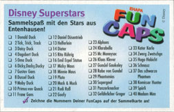 Fun Caps > Checklists & packets Disney-Superstars-Sammelkarte-(front).