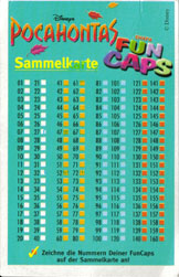 Fun Caps > Checklists & packets Pocahontas-Sammelkarte-(front).