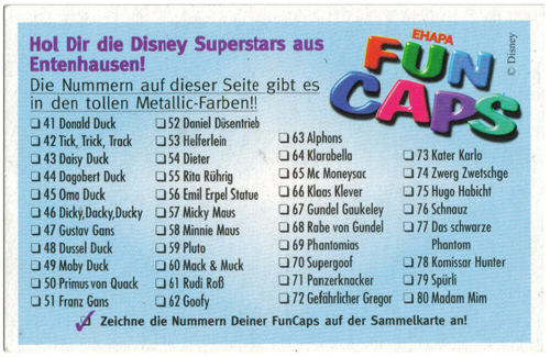Fun Caps > Disney Superstars aus Entenhausen 41-80 Checklist-reverse-41-80.