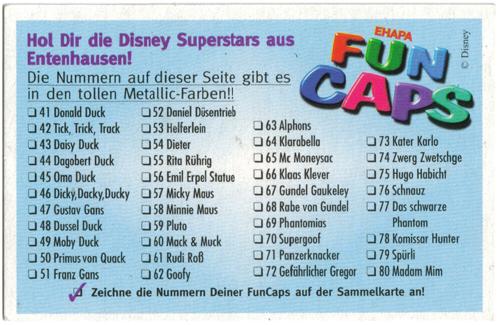 Fun Caps > Disney Superstars aus Entenhausen 41-80 Checklist-reverse-41-80.