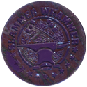 Slammer Whammers > Slammers > Slammer Whammers (numbered) 24-Hammers-and-anvil-(Purple-with-silver-front).