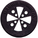 Slammer Whammers > Slammers > Slammer Whammers (unnumbered) Hubcap-Slammer-Back-Black.