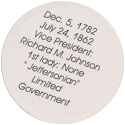 Island Bottlecap Company > U.S. Presidents 08-Martin-Van-Buren-(back).