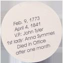 Island Bottlecap Company > U.S. Presidents 09-William-Henry-Harrison-(back).