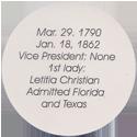 Island Bottlecap Company > U.S. Presidents 10-John-Tyler-(back).