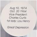 Island Bottlecap Company > U.S. Presidents 31-Herbert-C.-Hoover-(back).