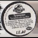 Leaf > Zaginiony Świat: Jurassic Park 18-Tyranozaur-Tyranosaurus-Rex-(back).