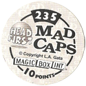 Magic Box Int. > Head First Mad Caps Back.