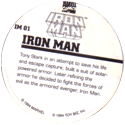 Marvel Comics - Toybiz > Iron Man IM-01-Iron-Man-(back).