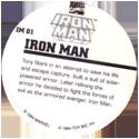 Marvel Comics - Toybiz > Iron Man IM-01-Iron-Man-(back).