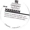 Marvel Comics - Toybiz > Iron Man IM-03-Mandarin-(back).