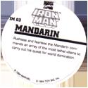 Marvel Comics - Toybiz > Iron Man IM-03-Mandarin-(back).
