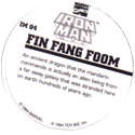 Marvel Comics - Toybiz > Iron Man IM-04-Fin-Fang-Foom-(back).