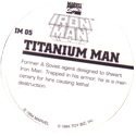 Marvel Comics - Toybiz > Iron Man IM-05-Titanium-Man-(back).