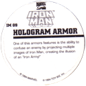 Marvel Comics - Toybiz > Iron Man IM-09-Hologram-Armor-(back).