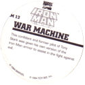 Marvel Comics - Toybiz > Iron Man IM-12-War-Machine-(back).