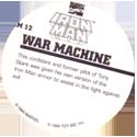 Marvel Comics - Toybiz > Iron Man IM-12-War-Machine-(back).