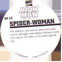 Marvel Comics - Toybiz > Iron Man IM-13-Spider-woman-(back).