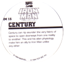 Marvel Comics - Toybiz > Iron Man IM-15-Century-(back).