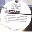 Marvel Comics - Toybiz > Iron Man IM-22-Blizzard-(back).