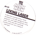 Marvel Comics - Toybiz > Iron Man IM-23-Living-Laser-(back).