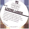Marvel Comics - Toybiz > Iron Man IM-23-Living-Laser-(back).