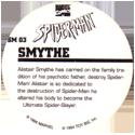 Marvel Comics - Toybiz > Spiderman SM-03-Smythe-(back).