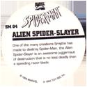 Marvel Comics - Toybiz > Spiderman SM-04-Alien-Spider-Slayer-(back).