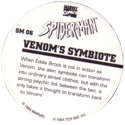 Marvel Comics - Toybiz > Spiderman SM-06-Venom's-Symbiote-(back).