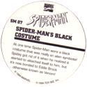 Marvel Comics - Toybiz > Spiderman SM-07-Spider-man's-Black-Costume-(back).