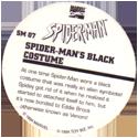 Marvel Comics - Toybiz > Spiderman SM-07-Spider-man's-Black-Costume-(back).