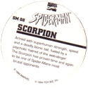 Marvel Comics - Toybiz > Spiderman SM-08-Scorpion-(back).