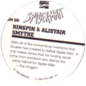 Marvel Comics - Toybiz > Spiderman SM-09-Kingpin-&-Alistair-Smythe-(back).