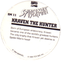 Marvel Comics - Toybiz > Spiderman SM-11-Kraven-The-Hunter-(back).