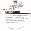 Marvel Comics - Toybiz > Spiderman SM-19-Mysterio-(back).