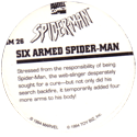Marvel Comics - Toybiz > Spiderman SM-26-Six-Armed-Spider-man-(back).