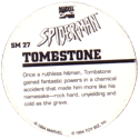 Marvel Comics - Toybiz > Spiderman SM-27-Tombstone-(back).