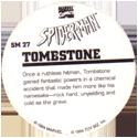 Marvel Comics - Toybiz > Spiderman SM-27-Tombstone-(back).