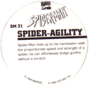Marvel Comics - Toybiz > Spiderman SM-31-Spider-Agility-(back).