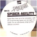 Marvel Comics - Toybiz > Spiderman SM-31-Spider-Agility-(back).